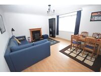 Contemporary 2 bedroom flat with converted loft space in Dalry available January – NO FEES