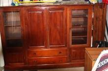 Mahogany TV Cabinet and Bookshelf Croydon Burwood Area Preview