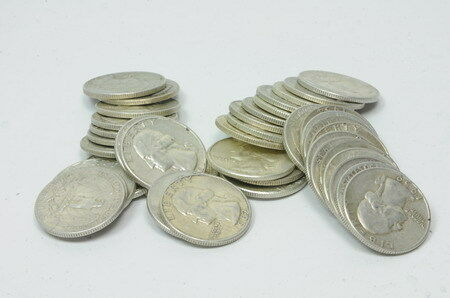 Mixed Lots 1932 - 1964 Silver Washington Quarter  $10 Roll Coin
