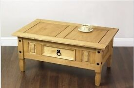 Antique Pine Effect Coffee Table