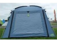 Blue Khyam Day Shelter 5000 with Steel Poles and Ground Sheet