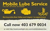Mobile Lube Service, serving Calgary 24/7 !! Car Oil Change