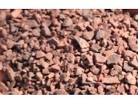 Red decorative stone / aggregate 1-3 mm x 10 bags