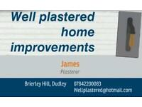 Well plastered home improvements