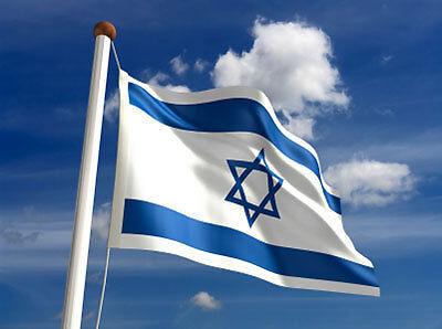 Israeli Giant 8x5 feet Flag Zionist Zionism Jewish Jews Jerusalem Holy Land bnip