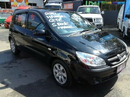 2010 Hyundai Getz TB MY09 S Black 5 Speed Manual Hatchback