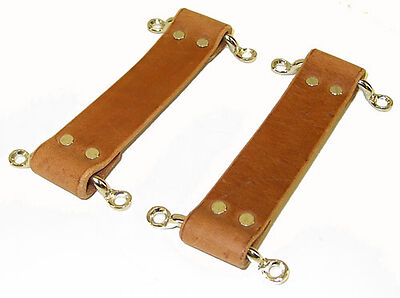 1934-36 Chevrolet Chevy GMC Pickup Panel Truck Brown Leather Door Strap Set USA