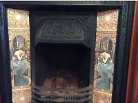 Victorian Cast Iron Fire Surround and original tiles