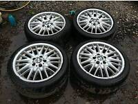 BMW MV1 Staggered Alloy Wheels With Good Tyres 5x120 18 Inch