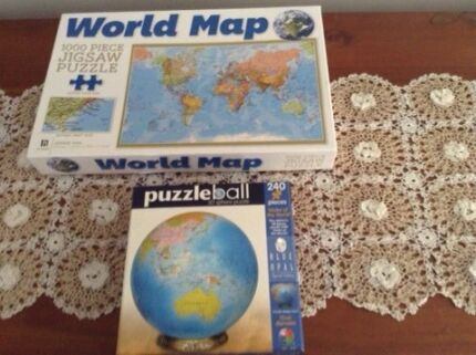 Huge world map for sale other books music games gumtree world map large puzzle and quality globe plastic puzzle gumiabroncs Choice Image