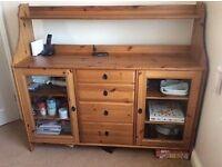 Ikea antique pine large sideboard