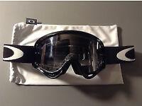 New Youth Kids Oakley XS O Frame Goggles Motocross Black BMX Downhill Tear Off