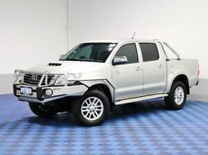 2013 Toyota Hilux KUN26R MY12 SR5 (4x4) Silver 5 Speed Manual Dual Cab Pick-up