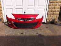 Genuine Vauxhall Astra J Front Bumper 2014-2015-
