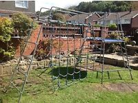 TP climbing frame sets with slide, extender and step set £120.00ono