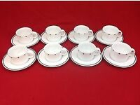 Coffee Set of 8 Vintage Sasaki Cup and Saucers