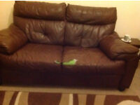 2 seater DFS leather sofa
