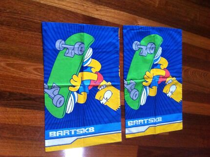 The Simpsons double bed quilt cover set Bundoora Banyule Area Preview