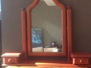 Mirror with two side small drawers Dolans Bay Sutherland Area Preview