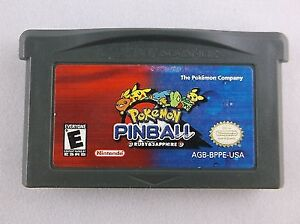 Game boy Advance POKEMON PINBALL Ruby & Sapphire