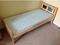 IKEA KRITTER toddler/child bed frame with Mattress