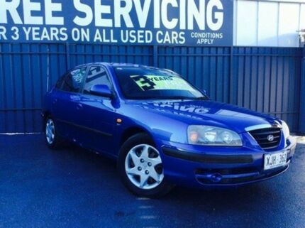 2005 Hyundai Elantra XD MY05 FX Blue 4 Speed Automatic Hatchback Old Reynella Morphett Vale Area Preview