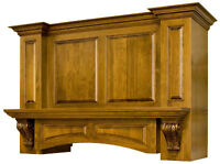 Custom Made Wooden Range Hoods, Fire Place Mantels and more...