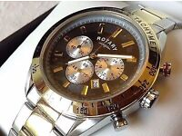 Men's Two-Tone Chronography Bracelet Watch