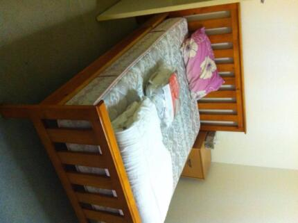 slat double bed plus mattress
