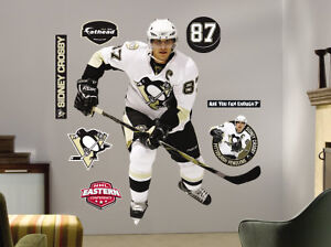 FATHEAD Sidney Crosby Life Size Peel and Stick for Wall