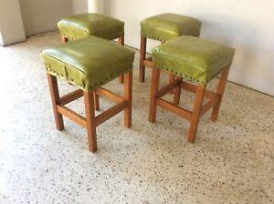 Attractive Vintage Retro Set Of 4 Coffee Table Stools