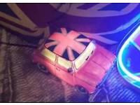 Union Jack theme taxi lamp