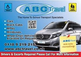 SCHOOL CONTRACT DRIVERS & PASSENGER ASSISTANTS REQUIRED IN ALL AREAS OF READING-ABC TRAVEL 9696969