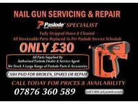 Paslode nail gun serviced and repair