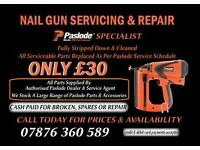 Paslode nail gun services and repair