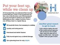 Home Cleaning Edinburgh only £11.30 per hour - Reliable, Vetted and Quality Cleaners, call us today!