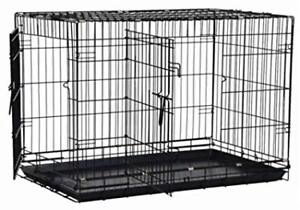 2 Wire Pet Crates With Plastic Tray
