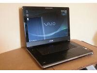 """SONY VGN-AR21S 17.0"""" HD1080, FAST 2x1.86GHZ, 3GB, 320GB, HDMI, TV TUNER, BLUETOOTH, WiFi, WEBCAM, W7"""