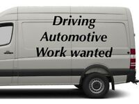 Work/job needed. Motorcycle car van forklift.