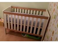 Baby Cot, wardrobe, drawers.