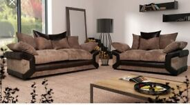 3&2 seater couch and FREE FOOTSTOOL