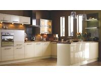 Cheap Kitchen For Sale In Cream High Gloss