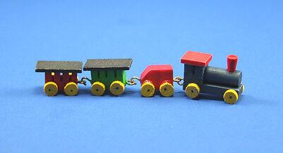 1/12 Scale: Adorable Dollhouse Miniature Wooden Toy Train Set #HD501