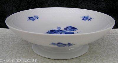 Royal Copenhagen Porcelain Blue Flowers Braided #8062 Compote Fruit Bowl
