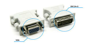 New DVI-I Male 24+5 to VGA Female 15-pin Connector Adapter Adapters From Mel
