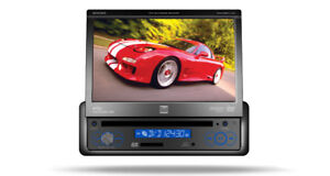 """Dual 7"""" Single Din Flip Out In-Dash Monitor"""