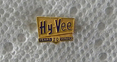 Vintage Early 1970S Hy Vee Grocery Store Employee 20 Year Service Pin  Badge
