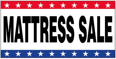 MATTRESS SALE - Vinyl Banner 2x4 ft Sign New - USA wb