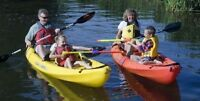 Neuf! kayak double sit on top... fun pour la famille!