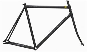 57CM-KHS-FLITE-100-single-SPEED-FIXIE-Bike-STEEL-Frame-FORK-track-dropouts-New